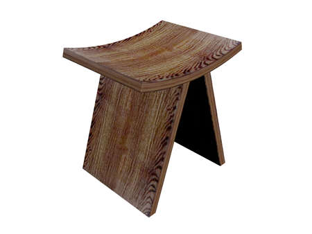 Illustration of an old wooden chair