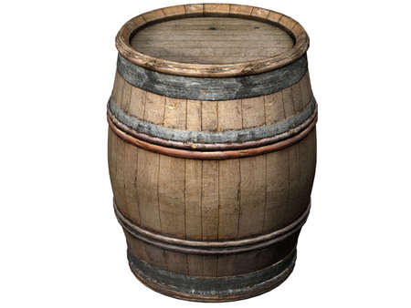 Illustration of a wooden wine barrel