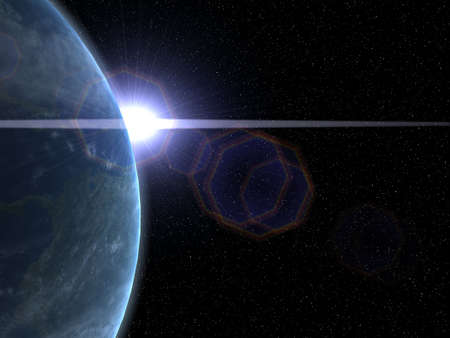Illustration of Earth and Sun