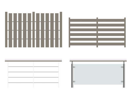 Illustration of a fence collection Stock Illustration - 766987