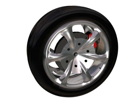 Illustration of a tire with alloy rim Stock Illustration - 766986