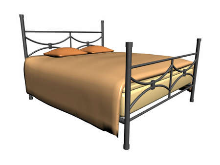 Illustration of a medieval iron bed