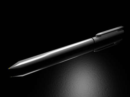 Illustration of a pencil on a table Stock Illustration - 767028