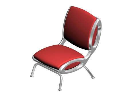 red metallic: Illustration of a red metallic chair