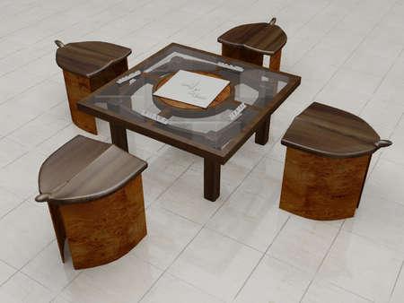 Illustration of a modern kitchen table Stock Illustration - 766956