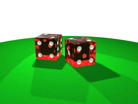 probability: Illustration of two red dice