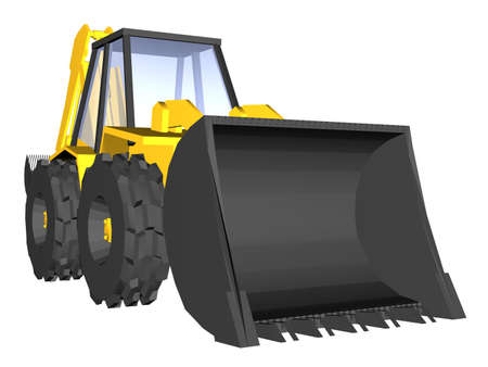 Illustration of a yellow digger Stock Photo