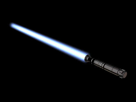 Illustration of a Light Saber Stock Photo
