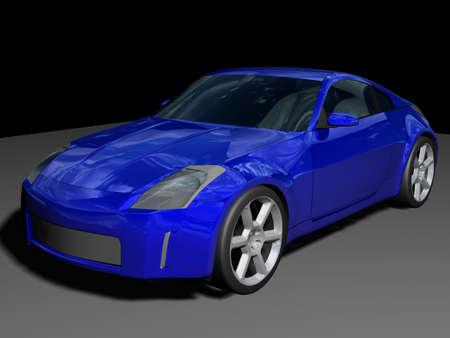 Illustration of a blue sports car Standard-Bild