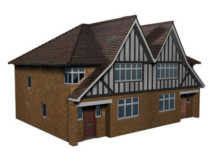 An illustration of an old house