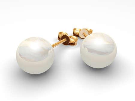 An illustration of pearl earrings Standard-Bild