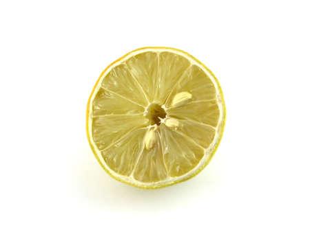 lemony: A lemon isolated on white