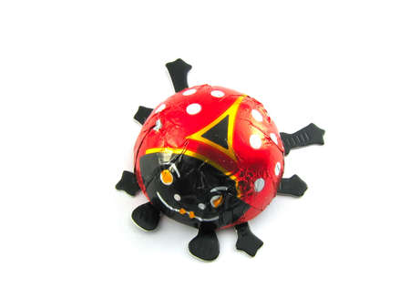 talisman: A red talisman (ladybug) isolated on a white background Stock Photo