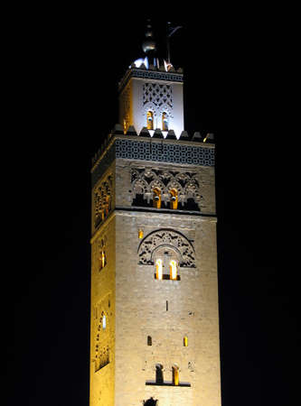 Evening shot of the Koutoubia Mosque in Marrakech  Morocco photo