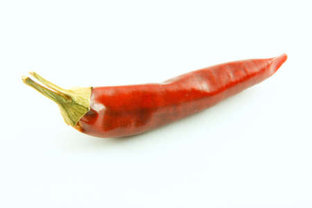 Red chili pepper isolated on a white background Standard-Bild