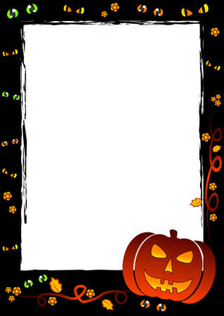 Festive frame on theme Halloween with field for text Illustration