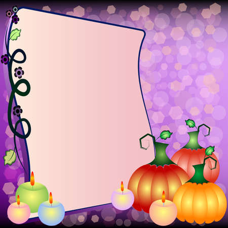 Holiday illustration on theme of Halloween with field for text Illustration