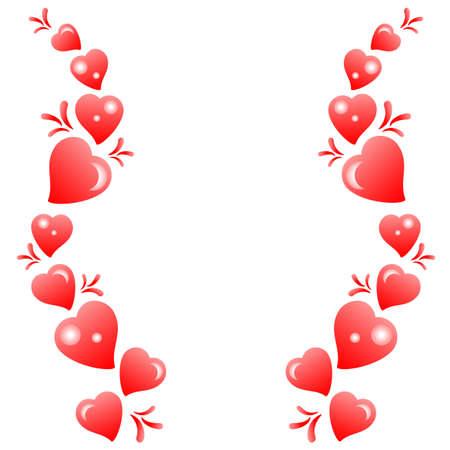 heart tone: Patr�n de corazones sobre un fondo blanco. Ilustraci�n vectorial Vectores