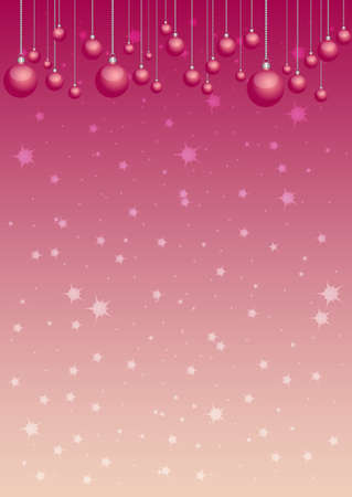 scarlet: Greeting christmas background in scarlet colors. Vertical orientation. Vector illustration