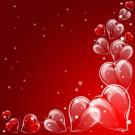 heart tone: Fondo festivo con los corazones en el d�a de San Valent�n s.