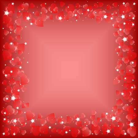 Festive background with hearts on Valentines day. February 14 - day for all lovers. Vector illustration Vector