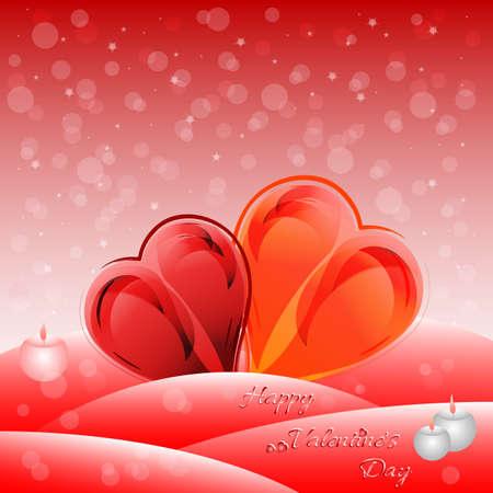 heart tone: Tarjeta de felicitaci�n de vacaciones con el coraz�n en el d�a de San Valent�n.