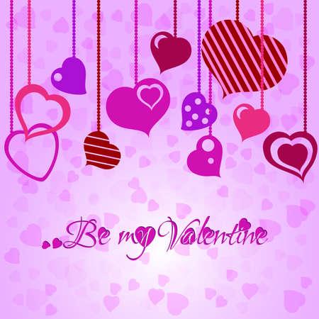 heart tone: Fondo festivo con guirnalda coraz�n d�a de San Valent�n.
