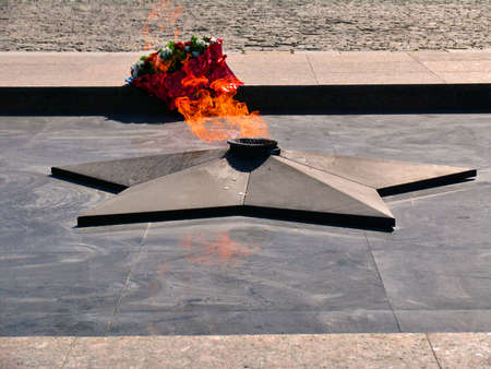 eternal: The eternal Fire on square in front of Museum in Victory Park on Poklonnaya hill