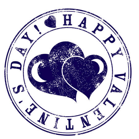 signet: Seal with fading specially for Happy Valentines Day. Vector illustration Illustration