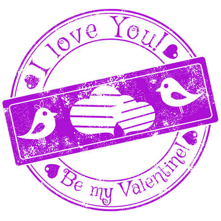 heart tone: Seal with fading specially for Valentines Day. I love you. Be my Valentine. Vector illustration