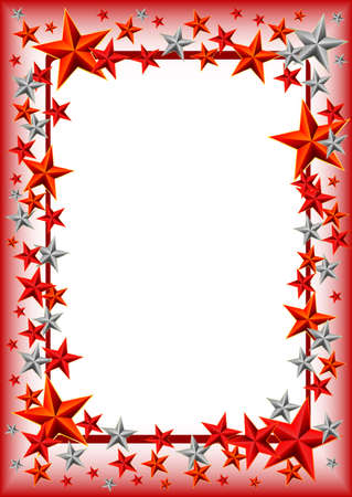 defender: Holiday frame with stars on Defender of the Fatherland day. February 23. Vector illustration