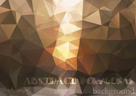 winter colors: Abstract polygonal background vector art in winter colors. Vector illustration Illustration