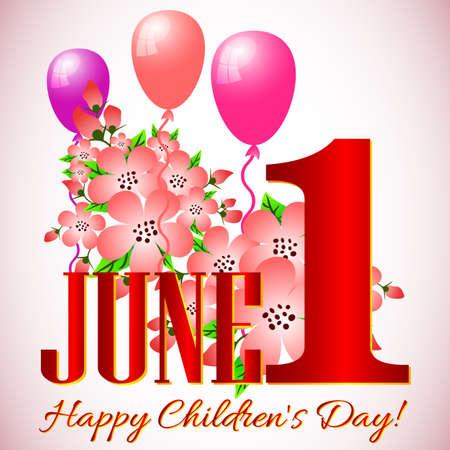 childrens day: Postcard on International Childrens Day.