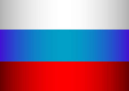 a 12: Russian tricolor - white, blue, red. Day of Russia in June 12. Raster illustration