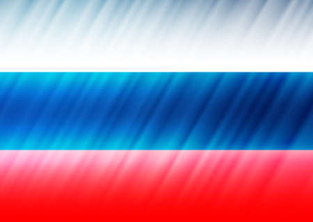 slanting: Postcard on Day of Russia in 12 June. Russian tricolor with slanting shadows. Raster illustration