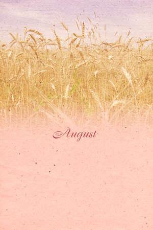 papier a lettre: vintage background stylis� avec une texture de papier pour un mois civil. Ao�t. Raster illustration