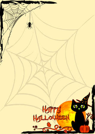 Holiday Illustration On Theme Of Halloween. Corner Frames With.. Royalty  Free Cliparts, Vectors, And Stock Illustration. Image 45228728.