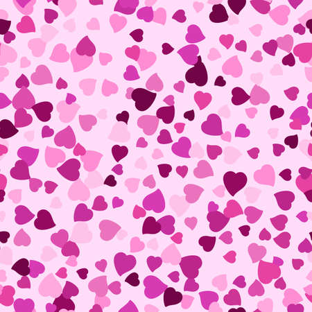 amorous: Seamless background with scattering of lilac hearts. Holiday seamless wallpaper, seamless wrapping paper. Valentines day. February 14. illustration