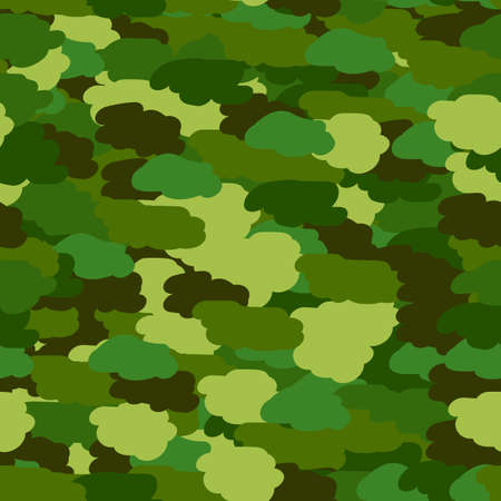 defend: Seamless background in green khaki colors. Military seamless wallpaper, seamless wrapping paper. Defender of Fatherland day in February 23. Victory day in May 9. Vector illustration Illustration