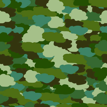 Seamless background in aquamarine khaki colors. Military seamless wallpaper, seamless wrapping paper. Defender of Fatherland day in February 23. Victory day in May 9. Vector illustration