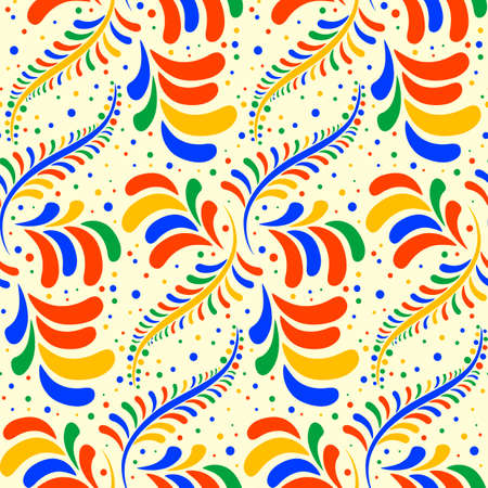 smears: Seamless colorful pattern with stylized droplets on white. Colored background. Drop design. Abstract smears. Vector illustration