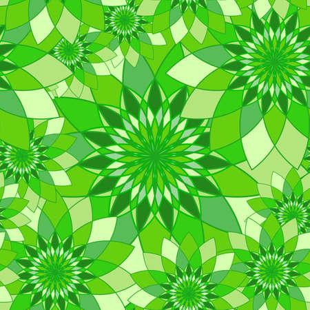 tangier: Seamless pattern with bright green floral guilloche. Seamless guilloche pattern. Seamless floral pattern. Green seamless background. Guilloche design line art pattern. Vector illustration Illustration