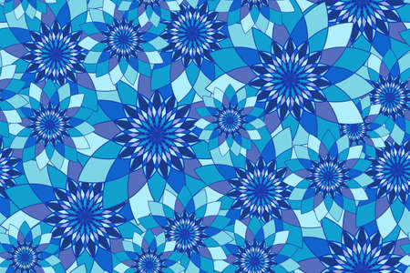 tangier: Seamless pattern with blue floral guilloche. Seamless guilloche pattern. Seamless floral pattern. Blue seamless background. Guilloche design line art pattern. Vector illustration