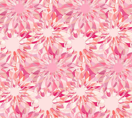 tangier: Seamless floral pattern with pink guilloche flowers. Corundum crystal seamless guilloche pattern or background. Vector illustration