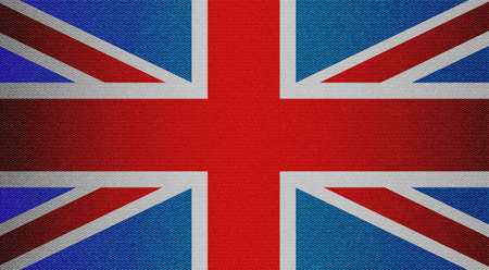 tricolor: England tricolor flag with jeans texture. Design denim fabric background. Vector illustration