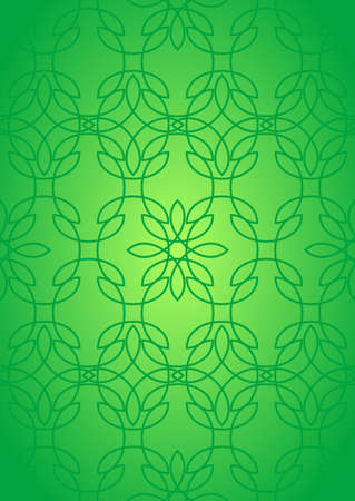 glass ornament: Seamless pattern with abstract stained glass ornament in green colors. Kaleidoscope background. Vector illustration