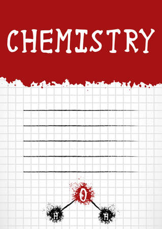 notebook cover: School notebook cover for school subjects in grunge style with splashes and stylized caption.