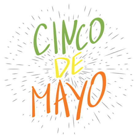 Greeting card for mexican holiday cinco de mayo as may 5 with greeting card for mexican holiday cinco de mayo as may 5 with hand drawn text in m4hsunfo Image collections