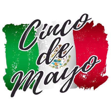 Greeting card for mexican holiday cinco de mayo as may 5 with greeting card for mexican holiday cinco de mayo as may 5 with lettering on background of m4hsunfo