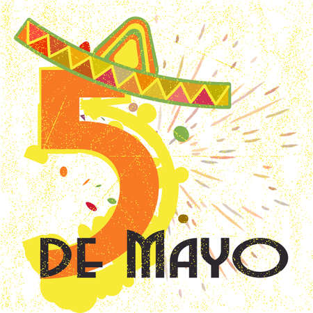 Greeting card for mexican holiday cinco de mayo as may 5 with greeting card for mexican holiday cinco de mayo as may 5 with stylized number 5 wearing m4hsunfo Image collections